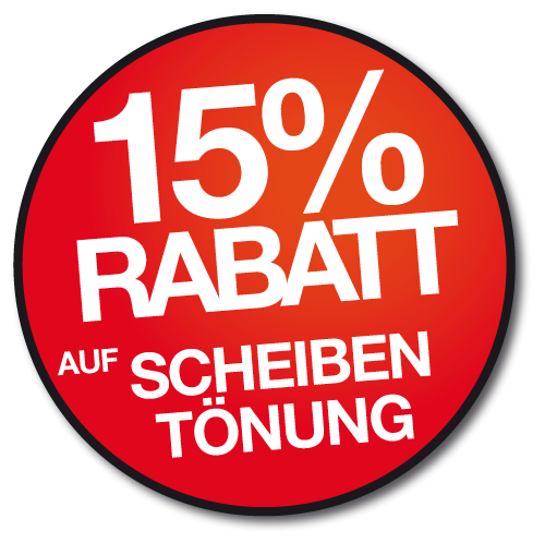 Aktion Sommerlaune – 15% Rabatt auf Scheibentönungen